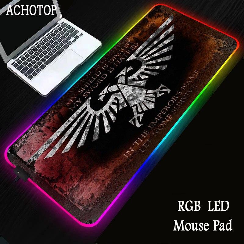 RGB Mouse Pad Large XXL Gamer Wars hammer 40K Gaming Mousepad Keyboard Laptop Computer Mice Mouse Desk Play Mats tapis de souris