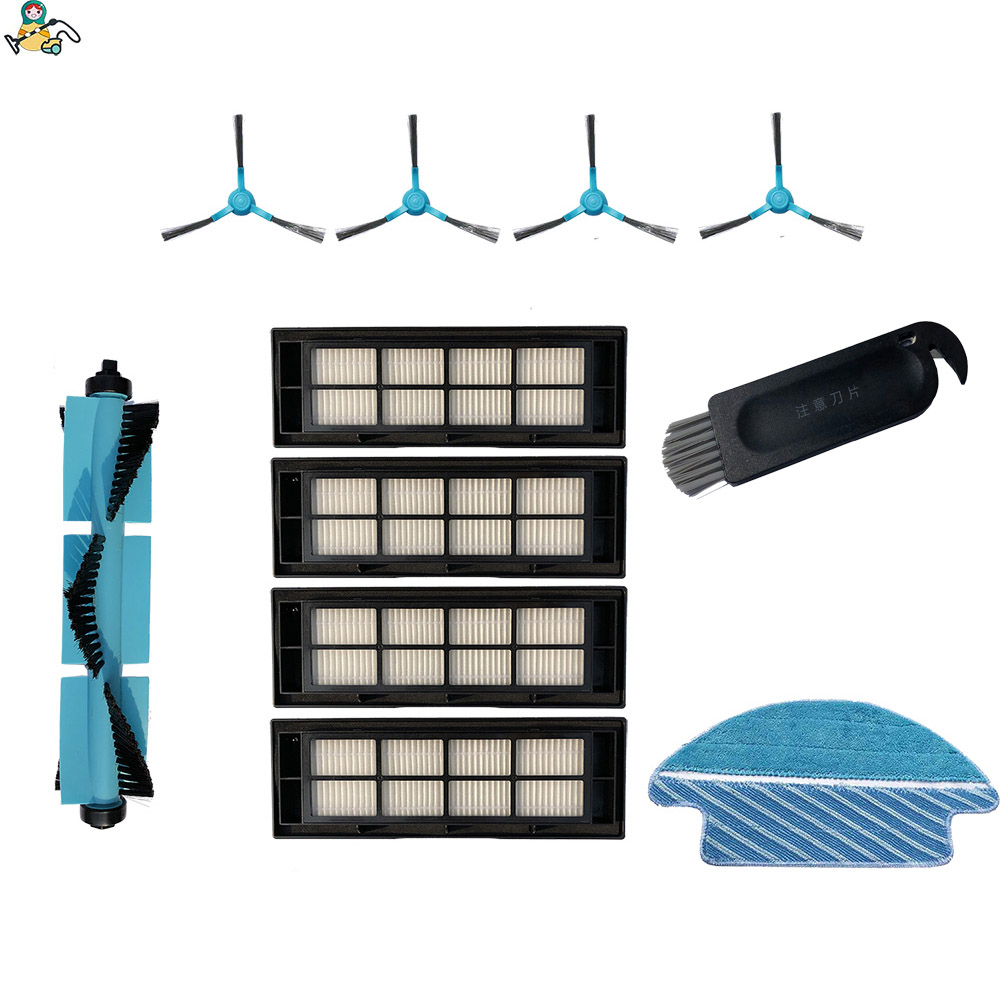 Mop Cloth Pad Rag Main Brush Roller Side Brushes HEPA Filter For Cecotec Conga 3090 Brush Filter Vacuum Spare Parts Accessories