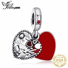 Jewelrypalace стерлингового серебра 925 секрет восхищение красной эмалью бисер Подвески Fit Браслеты подарки для нее Модные украшения подарок