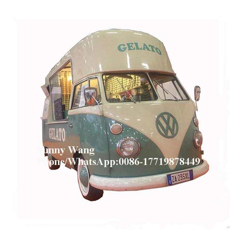 New Street Food Vending Cart / Electric Vintage Food Truck / Mobile Food Trailer Sale