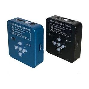 Image 2 - 34MP الفيديو الرقمي HDMI USB مجهر كاميرا 3.5X 90X سيمول البؤري ثلاثي العينيات مجهر ستيريو لحام pcb طقم تصليح الهاتف