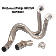 Ninja 650 Motorcycle Muffler Exhaust Pipe Front Header Connect Link for Kawasaki Z650 Slip On 2017-2019 Modified