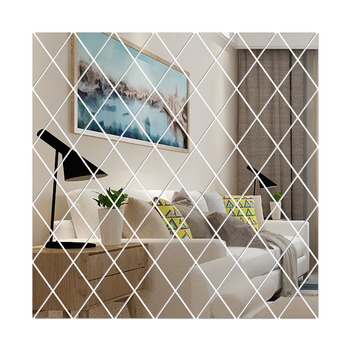 DIY 3D Mirror Wall Sticker Bathroom Bedroom Departments Dining Room Entryway Living Room Mirrors Rooms