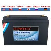 Nuova batteria al litio 12V 100Ah LiFePO4 batterie al litio BMS 3000 cicli per camper camper Golf Cart Off-Road Off-Grid Solar