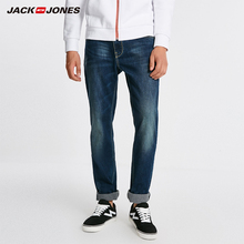 Pantalones vaqueros rectos lisos de algodón abrigados para hombre de Jack Jones pantalones vaqueros de motociclista