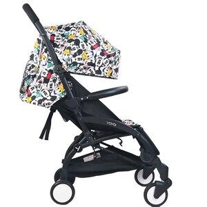 Image 2 - Bebek arabası ayak ve deri kumaş malzeme gidon arabası aksesuarları için Babyzen Yoyo yoga Babytime arabası tampon