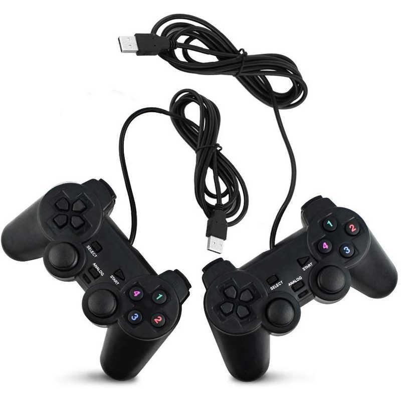 조이스틱 유선 USB PC 컨트롤러 컴퓨터 노트북 WinXP Win7/Win8/Win10 Vista 블랙 Gamepad