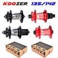 Freies lieferung Koozer XM490 naben 4 lager MTB mountainbike hub QR100 * 15 12*142mm thru32holes disc bremse bike hub28 32 36 löcher