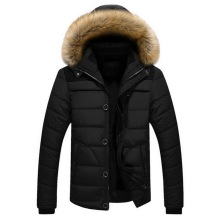 New Winter Jacket Men Brand Clothing Fashion Casual Slim Thick Warm Mens Coats Parkas With Hooded Long Overcoats Male Clothes