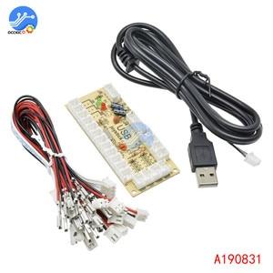 Image 3 - 2 قطعة 2x صفر تأخير ممر USB مشفر قطعة إلى جويستيك وزر ل MAME قتال عصا لوحة دائرة تحكّم