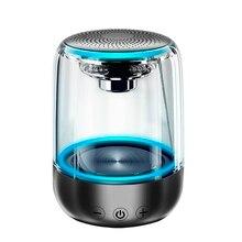 Bluetooth kablosuz hoparlörler su geçirmez Stereo sütun taşınabilir hoparlör romantik renkli işık Mic ile destek TF kart