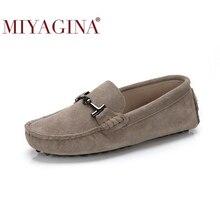 MIYAGINA 100% אמיתי עור נשים נעלי 2020 חדש נשים דירות אביב שטוח מוקסינים אישה נעליים יומיומיות 17 צבעים גודל 34 41