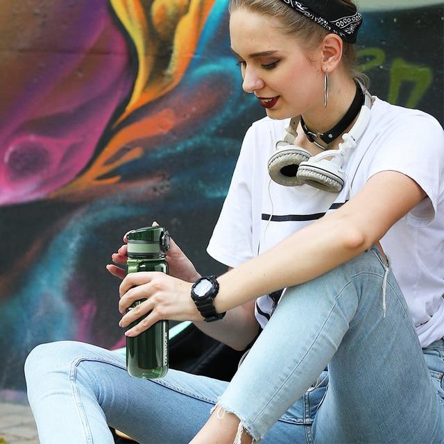 UZSPACE 500/1000ml Portable étanche bouteille deau Shaker en plein air Sport Tour Direct bouteille potable écologique bouteille en plastique sans BPA