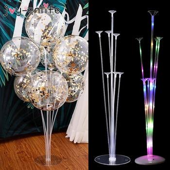 7 Tubes LED Light Balloon Holder Stand Balloon Column Baby Shower Kids Birthday Party Wedding Decoration Supplies 1