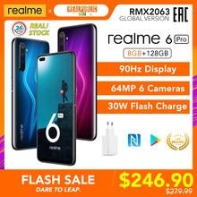 Realme 6 Pro 8GB RAM 128GB ROM 6pro Version mondiale téléphone portable Snapdragon 720G 30W Charge rapide 64MP caméra prise ue d'origine NFC