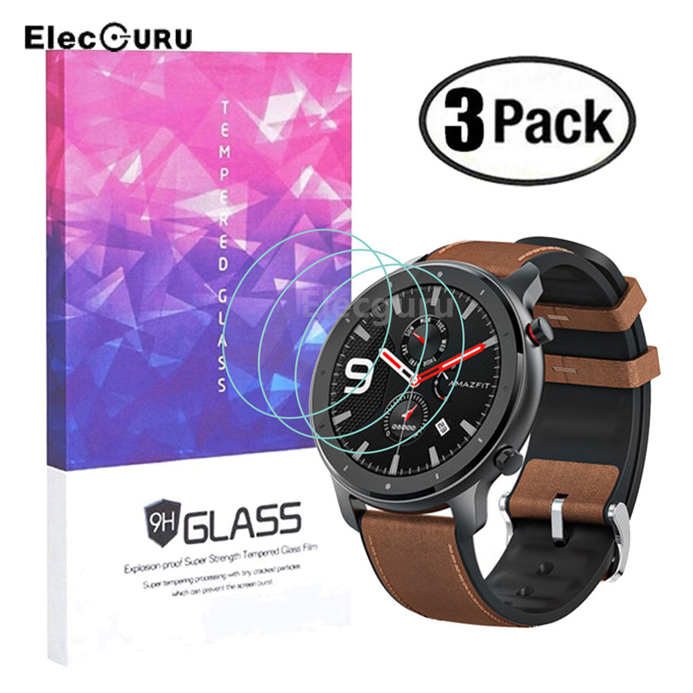 Screen-Protector Smartwatch Amazfit Gtr Tempered-Glass 3-Pack for 47mm-Version 9H