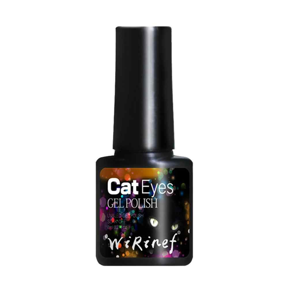 8ml 3D חתול עין ג 'ל ציפורניים לספוג את לכה מגנטי ג' ל פולני חצי קבוע Led UV דבק ציפורניים אמנות מניקור מגנטי עט F