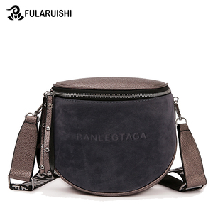 Image 1 - Crossbody Bag For Women 2020 Messemger Bags Pu Leather Shoulder Bag Fashion Famous Brand Lady Semicircle Saddle