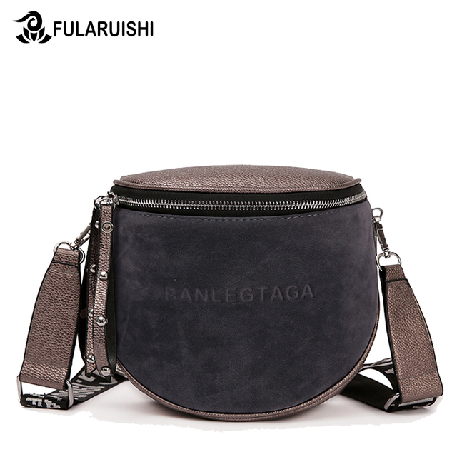 Crossbody Bag For Women 2020 Messemger Bags Pu Leather Shoulder Bag Fashion Famous Brand Lady Semicircle Saddle
