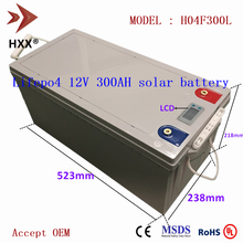 Литиевая батарея 12 в 300 Ач, литий-железо-фосфатные батареи LFP, Упаковка 250 А BMS, цифровой дисплей, батарея для дома на колесах, яхты