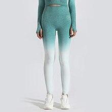 GYMQUASAR Ombre Sans Couture Femmes Yoga Pantalon Push Up Leggings Gym Fitness Sport En Cours D'exécution Yoga Taille Haute Énergie Jambières D'exercices