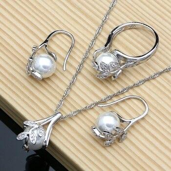 Silver 925 Bridal Jewelry Sets Jewelry Pearl Jewelry