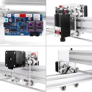 Image 4 - Área de trabalho 40cm x 50cm,2500mw/5500mw/15w máquina do cnc do laser, desktop diy máquina de gravura a laser violeta diy mini impressora a laser