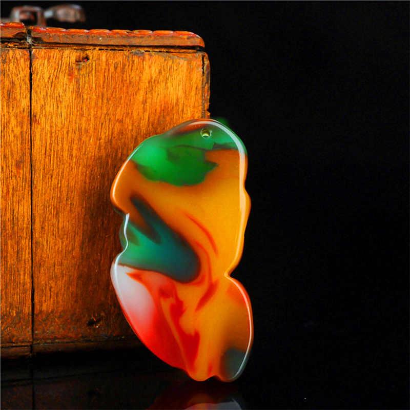 סיני צבע ירקן הדרקון תליון ירקן שרשרת קסם תכשיטי אופנה אביזרי יד-מגולף קמע מתנות + משלוח חבל