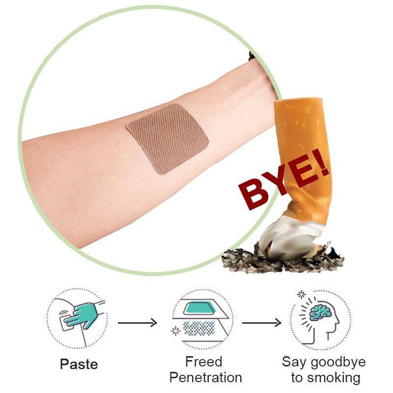 30pcs 100% Natural Ingredient Anti Smoke Patch Stop Quit Smoking Cessation Chinese Herbal Medical Plaster Health Care D2051 5