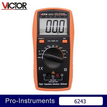 Victor VC6243 Professional Victor Inductance CAPACITANCE LCR Meter Digital Multimeter Resistance Meter Null holdpeak hp 4070l capacitance multimeter digital inductance lcd meter hfe test manual range inductance lcr meter test multimeter