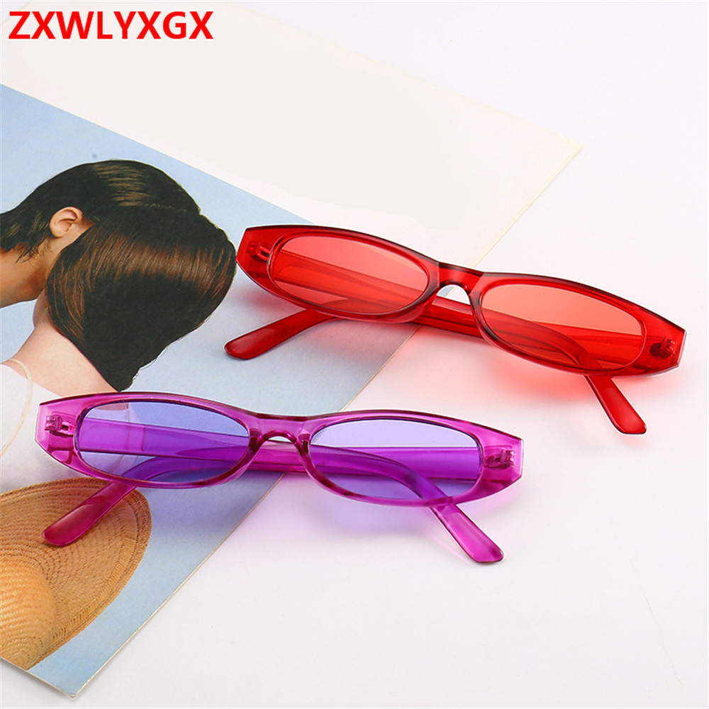 2020 new fashion sunglasses sunglasses women men retro colorful transparent small colorful Cat Eye Sunglasses oculos feminino