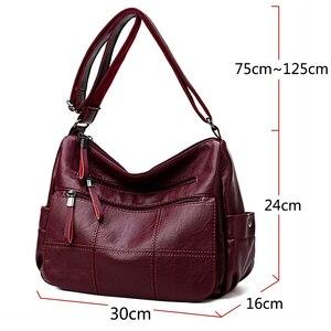Image 2 - Tasarımcı lüks bayan çanta kadın kadınlar için Crossbody çanta 2020 yumuşak deri omuz askılı postacı çantaları bayan için ana kesesi