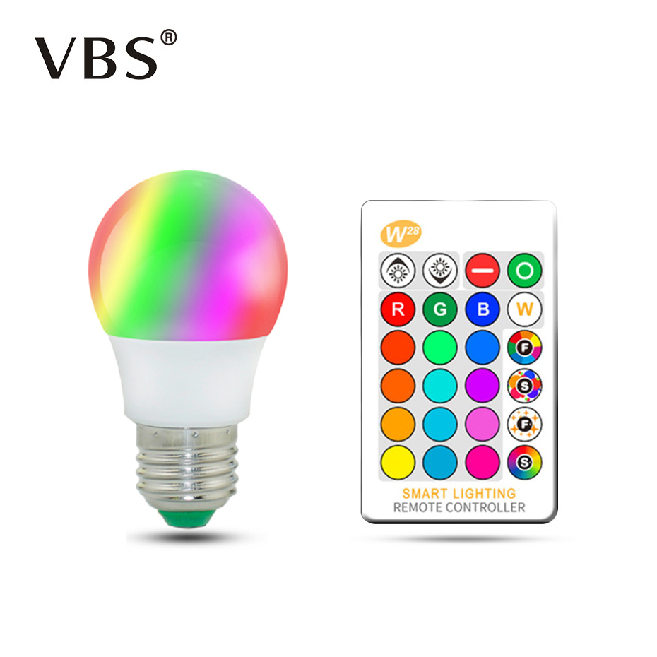 Magic RGB LED Light Bulb AC85 265V Smart Lighting Lamp Color Change Dimmable With IR Remote Controller 5W 10W 15W Smart Bulb-in LED Bulbs & Tubes from Lights & Lighting