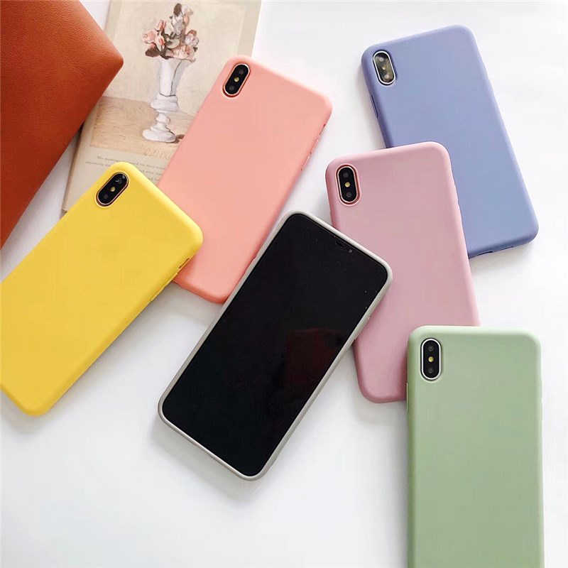 Matte Case for HUAWEI Y5 Y6 2019 Y7 Prime Y9 2019 Fashion Cute Soft Silicone Cover