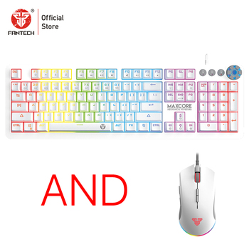 FANTECH English And Russian Keyboard And X17 Gaming Mouse 10000DPI Adjustable 7Buttom Macro Optical Mouse For Top Game Player