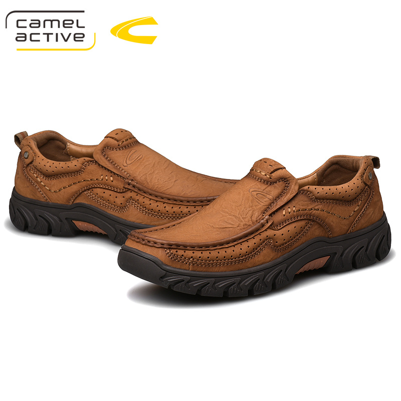 Image 5 - Camel Active New Genuine Leather Men Shoes England Trend Male  Footwear Mens Casual Shoes Outdoors Short Boots Man Work ShoesOxfords
