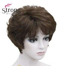 StrongBeauty נשים של פאות פלאפי באופן טבעי מתולתל קצר סינטטי שיער מלא פאה 11 צבע