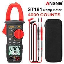 ANENG ST181 pinza amperimetrica medidor de pinza Digital DC/AC, multímetro de 4000 recuentos, ut210e amperímetro, medidor de voltaje, amplificador de coche Hz, capacitancia, prueba de ohmios NCV clamp meter