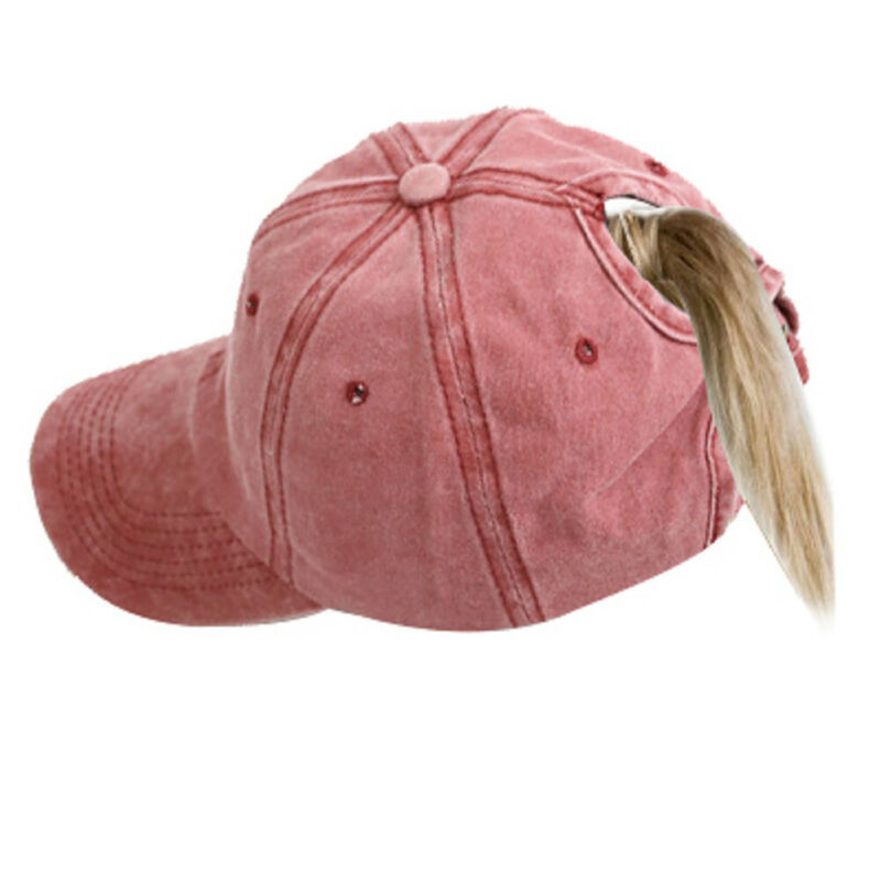 2019 Fashion Women Ponytail Baseball Hat For Girl Winter Warm Breathable Hole Retro Ski Casual Sports Adjustable Visor Cap Hats