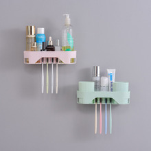 Toothbrush Holder Toiletries Toothpaste Rack Wall Mount  Storage With Cup Bathroom accessories