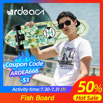 ARDEA Cruiser Skateboard 71cm/28in Fishboard Cruiser Penny skateboard Banana Fish board Outdoor Sport Portable Skate board скейт ecobalance cruiser board purple red