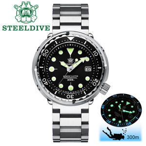 STEELDIVE Watch Mechanical-Watch Tuna 300m C3 Luminous Men 1975