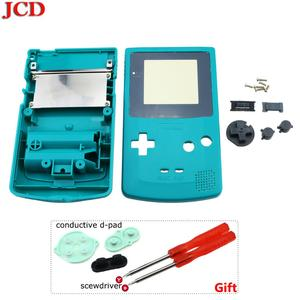 Image 2 - GBC 한정판 용 JCD 8 세트 Gameboy 컬러 게임 콘솔 용 쉘 교체 전체 하우징 + 전도성 d 패드 + 스크루 드라이버