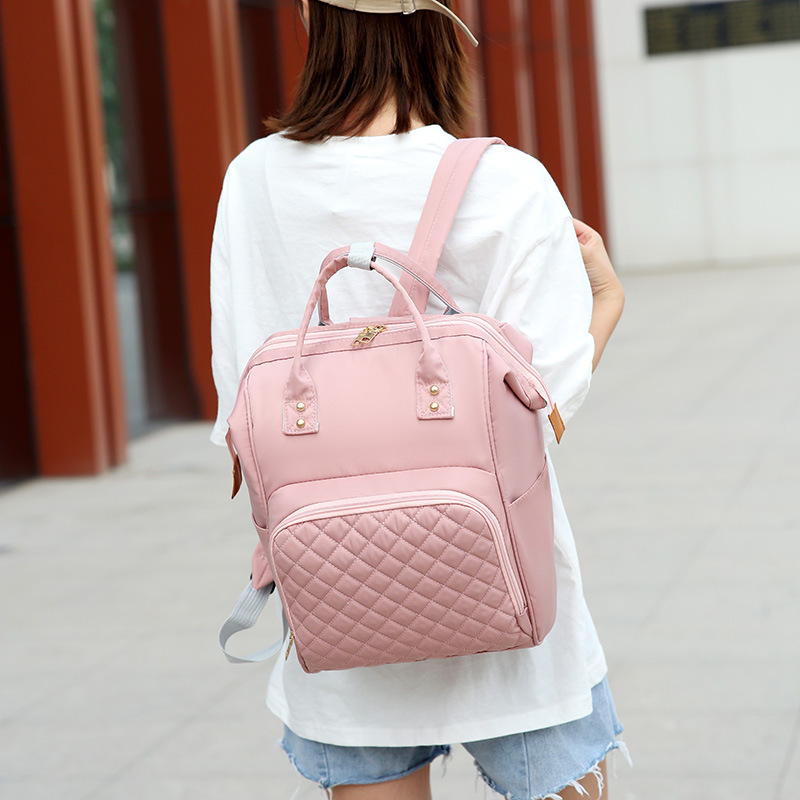 2019 New Style Waterproof Nylon Cloth Diaper Bag Women's Casual Backpack Women's MOTHER'S Bag