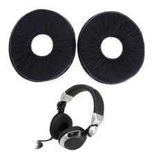 1 par substituição almofadas de ouvido almofada para técnicas rp dj1200 dj1210 fones fone ouvido preto earpads