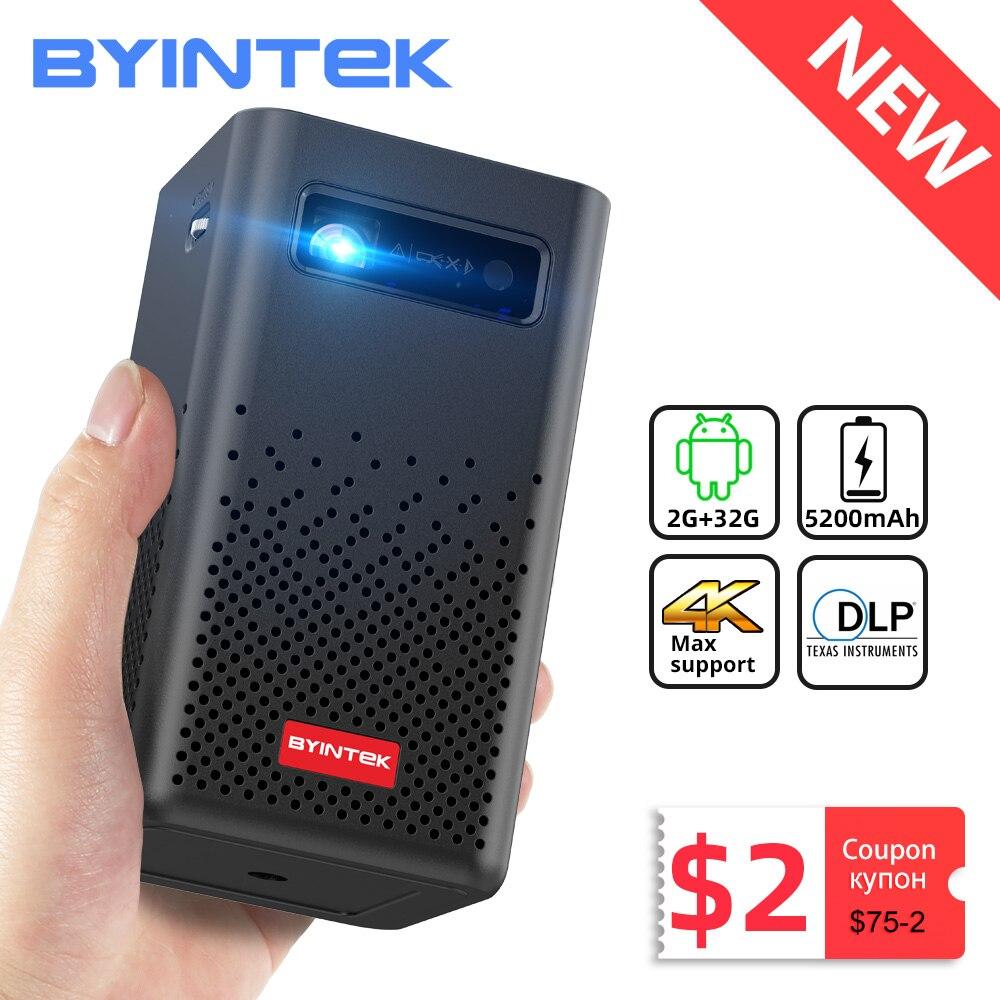 BYINTEK P20 Мини Портативный Смарт Android WIFI FULL HD 1080P TV Video Pico LED DLP проектор для мобильного смартфона 4K кинотеатр