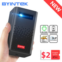 Byintek p20 mini portátil inteligente android wifi completo hd 1080p tv vídeo pico led dlp projetor para smartphone móvel 4k cinema