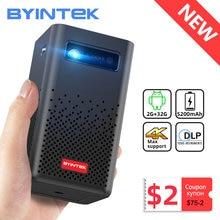 BYINTEK P20 Mini Tragbare Smart Android WIFI TV Video Pico LED DLP Projektor für Volle HD 1080P Mobile Smartphone PC 4K Kino