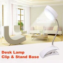 SUCHME Flexo lampa stołowa LED klip biurko lampa LED zacisk do czytania nauki łóżko biurko na laptopa jasne oświetlenie opracowanie lampa stołowa przenośne w Lampy na biurko od Lampy i oświetlenie na