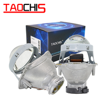 цены TAOCHIS 2pcs Auto Car Headlight 3.0 inch Bi-xenon Hella 3R G5 5 Projector lens Car styling Retrofit head light Modify D2s